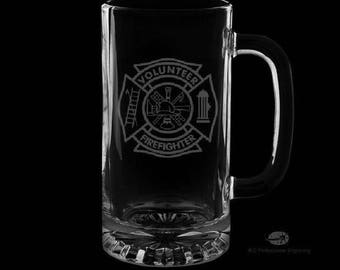 Volunteer Fire Department 16 Ounce Personalized Beer Mug