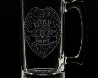 Police Department 25 Ounce Beer Mug (Also Available in 16oz & 12oz)