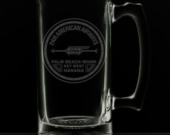 PanAm 1927 Logo 25 Ounce Beer Mug (Also Available in 16oz & 12oz)