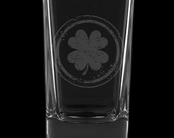 Irish Shamrock 2.75 Ounce Dessert Shot Glass (Also available in 2.0oz)