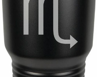 Scorpio 30 Ounce Black Polar Camel Tumbler (Also Available in Red, White, Gray, & Blue)