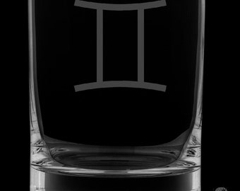 Gemini 13 Ounce Personalized Rocks Glass