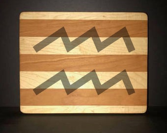 Aquarius Cuttingboards Made Out Of Cherry and Maple (8 X10 size displayed)