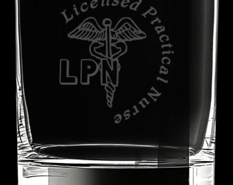 Licensed Practical Nurse 10 Ounce Rocks Glass