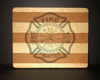 Fire Department Maltese Cross Cuttingboards Made Out Of Cherry and Maple (8 X10 size displayed)