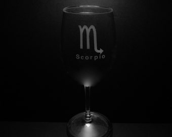 Scorpio Wine Glass