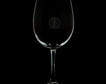 PanAm  Logo 12 Ounce Wine Glass (Available With Stem And Stemless)