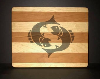 Pisces Cuttingboards Made Out Of Cherry and Maple (8 X10 size displayed)