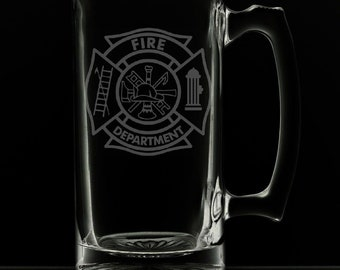 Fire Department 25 Ounce Personalized Beer Mug