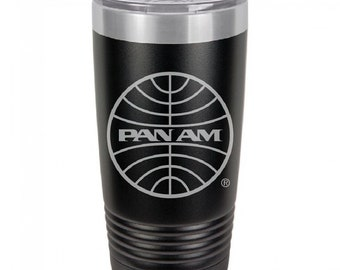 PanAm 1973 Logo 20 Ounce Black Polar Camel Tumbler (Also Available in Red, White, Gray, & Blue)