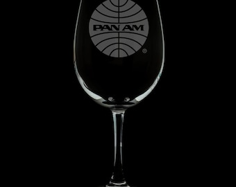PanAm 1957 Logo 12 Ounce Wine Glass (Available With Stem And Stemless)