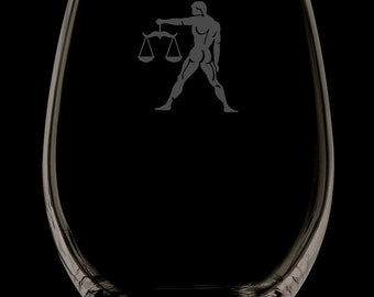 Libra Stemless Wine Glass.