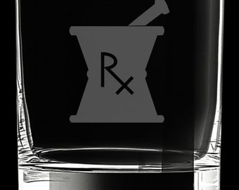 Pharmacy 10 Ounce Rocks Glass