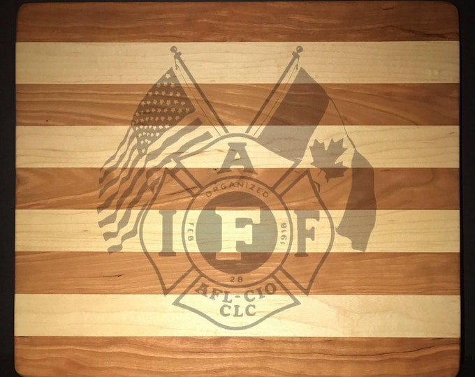 Featured listing image: IAFF Cutting Board