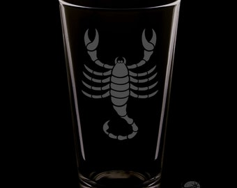 Scorpio 16 Ounce Pint Glass
