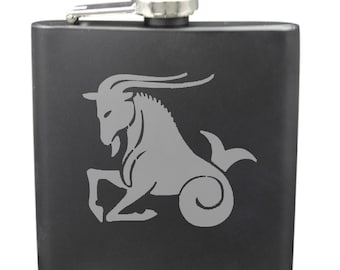 Capricorn 6 Ounce Flask