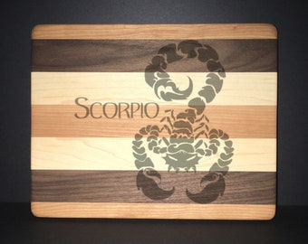 "Scorpio 8""X 10"" Hand Made Cutting Board (Also Available in 7""X 9"" & 12""X 14"")"