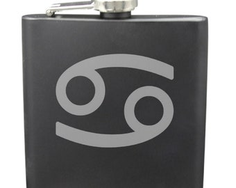 Cancer 6 Ounce Flask