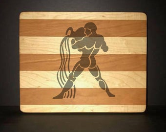 "Aquarius 8""X 10"" Hand Made Cutting Board (Also Available in 7""X 9"" & 12""X 14"")"