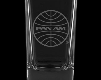 PanAm 1973 Logo, 2.75 Ounce Dessert Shot Glass (Also available in 2.0oz)