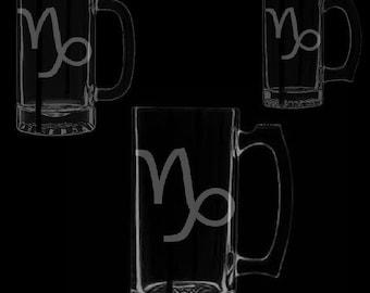 Capricorn Symbol Beer Mugs