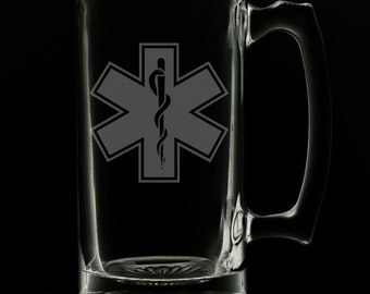 Star Of Life 25 Ounce Beer Mug (Also Available in 16oz & 12oz)