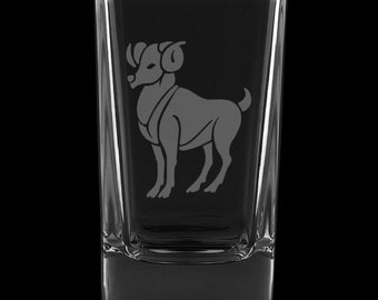 Aries 2.75 Ounce Dessert Shot Glass (Also available in 2.0oz)