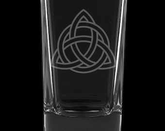 Celtic Knot 2.75 Ounce Dessert Shot Glass (Also available in 2.0oz)