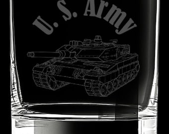 United States Army 10 Ounce Rocks Glass