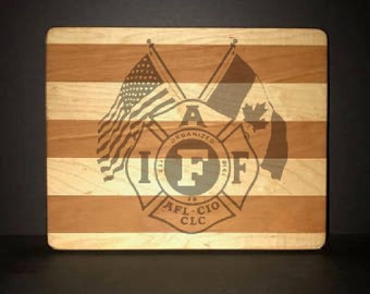 "IAFF 8""X10"" Cuttingboards Made Out Of Cherry and Maple (7X9 & 12""X14"" Also Available)"