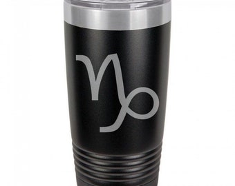 Capricorn 20 Ounce Black Polar Camel Tumbler (Also Available in Red, White, Gray, & Blue)