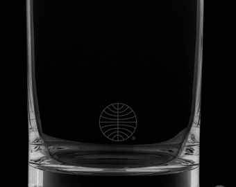 Pan Am 13 Ounce Logo Rocks Glass