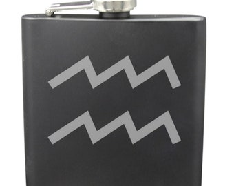 Aquarius 6 Ounce Flask