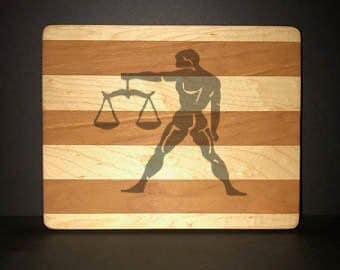 Libra Cuttingboards Made Out Of Cherry and Maple (8 X10 size displayed)
