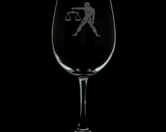 Libra 12 Ounce Wine Glass
