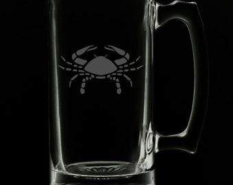 Cancer 25 Ounce Beer Mug (Also Available in 16oz & 12oz)
