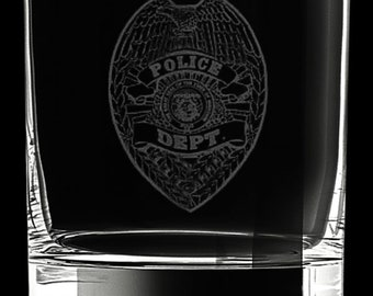 Police Department 10 Ounce Rocks Glass