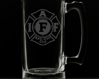 IAFF 25 Ounce Personalized Beer Mug
