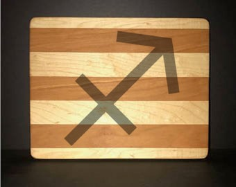 "Sagittarius 8""X 10"" Hand Made Cutting Board (Also Available in 7""X 9"" & 12""X 14"")"