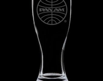 Pan Am 1973 Logo 18 Ounce Pilsner Glass