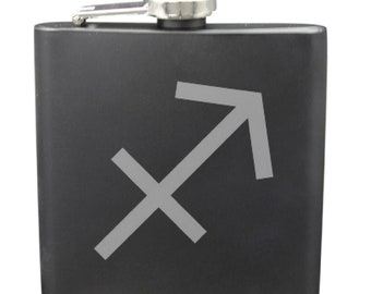 Sagittarius 6 Ounce Flask