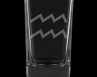 Aquarius 2.75 Ounce Dessert Shot Glass (Also available in 2.0oz)
