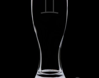 Gemini 18 Ounce Personalized Pilsner Glass
