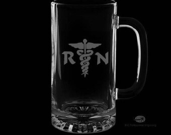 Registered Nurse 16 Ounce Personalized Beer Mug