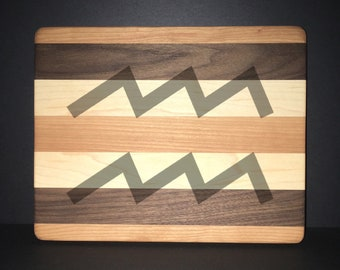 Aquarius Cuttingboards Made Out Of Cherry, Black Walnut, and Maple (8 X10 size displayed)