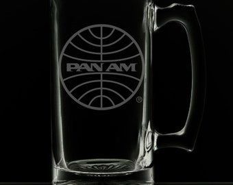 PanAm 1973 Logo 25 Ounce Beer Mug (Also Available in 16oz & 12oz)