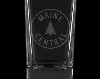 Maine Central Railroad 2.75 Ounce Dessert Shot Glass (Also available in 2.0oz)