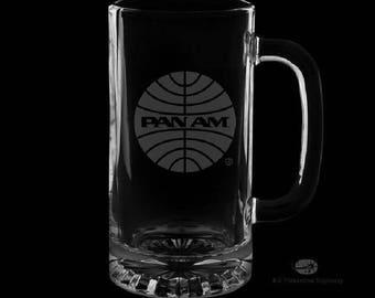 Pan American Airways 16 Ounce Personalized Beer Mug