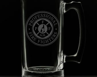 25 Ounce Professional Firefighters Of New Hampshire Beer Mug