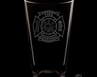 Fire Department 16 Ounce Pint Glass